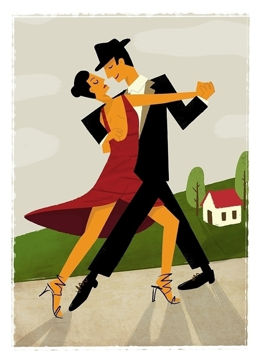 Spring tango - man, woman, house - mikhalek_bo | ello