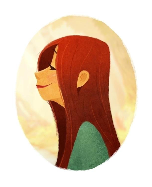 Fall - illustration, characterdesign - vanya-3409 | ello