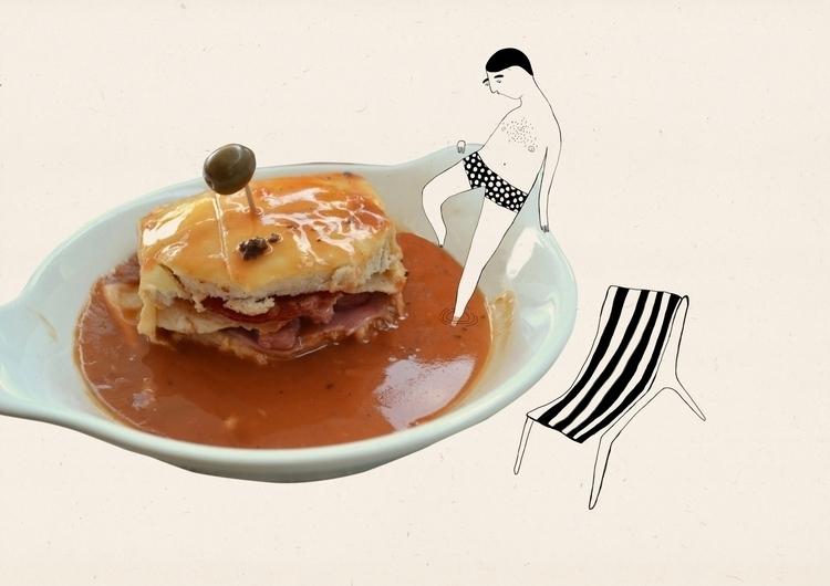 Taste Porto- Francesinha - illustration - msarte | ello