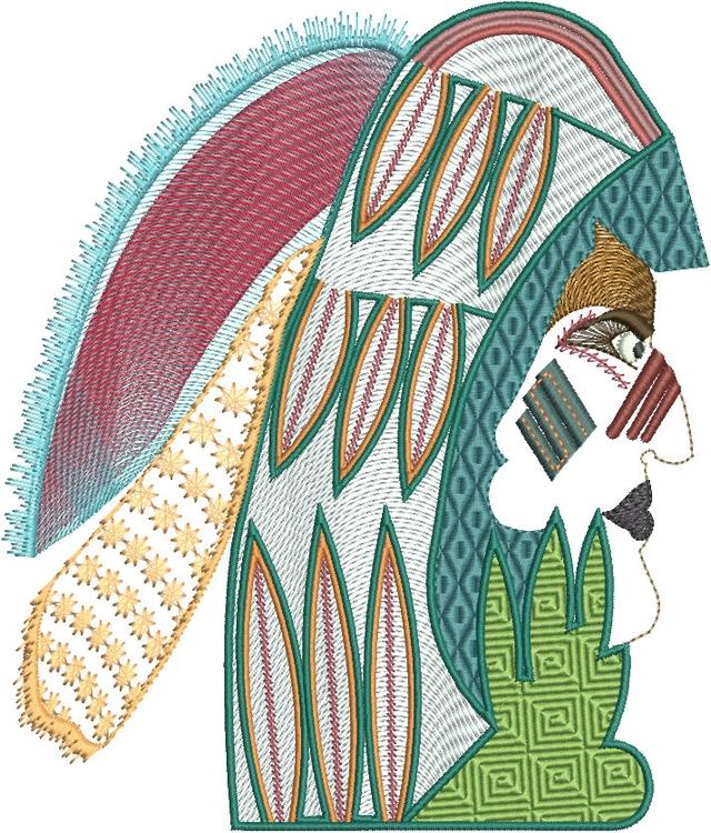 Aztec Warior - characterdesign, faces - esn-3951 | ello