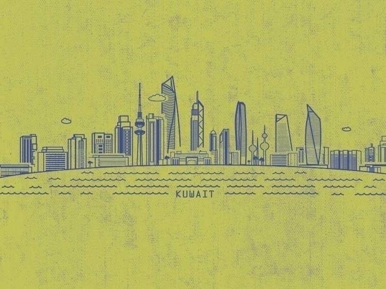 Kuwait City - kuwait, city, illustration - anusha-2394 | ello