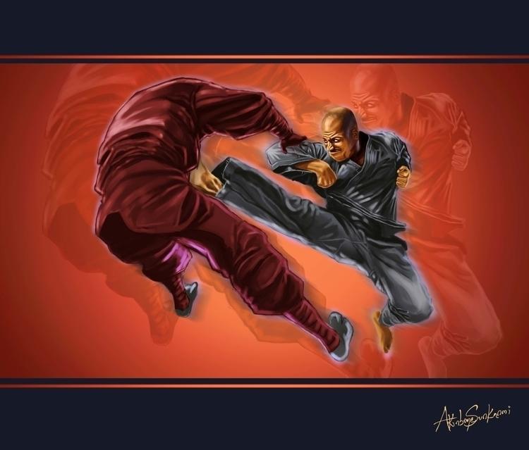 Martial Thunder - illustration, painting - woody-2265 | ello