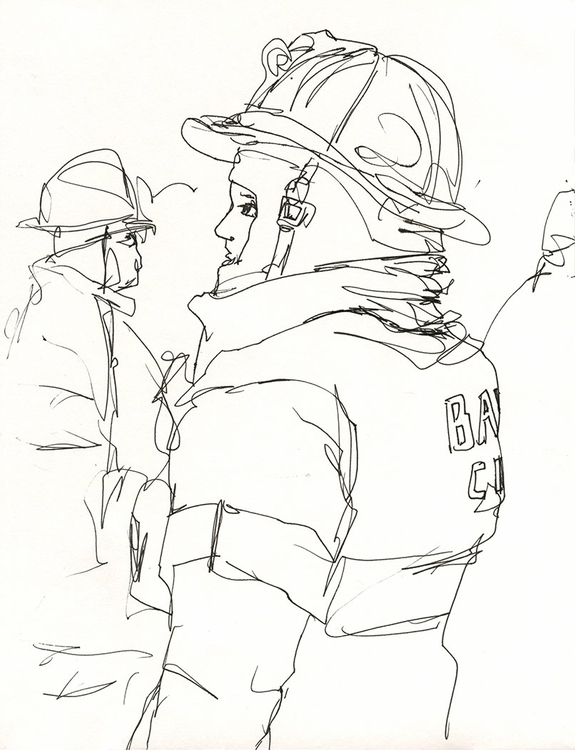 firefighting firefighters - 4, drawing - ononlao | ello