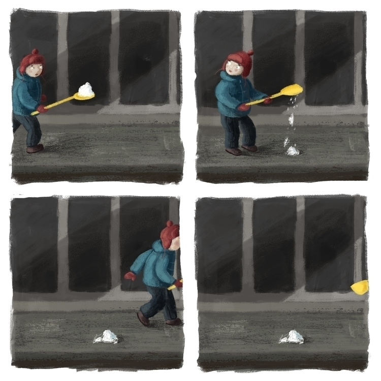shovel - illustration, comic, digitalart - prianikn | ello