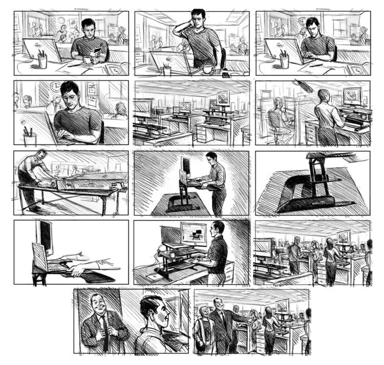 Varidesk Board - storyboard, illustration - doritart | ello