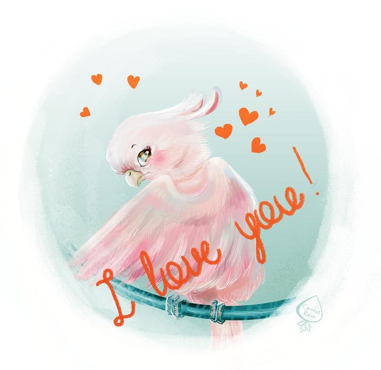 day - illustration, parrot, love - carrotrain | ello