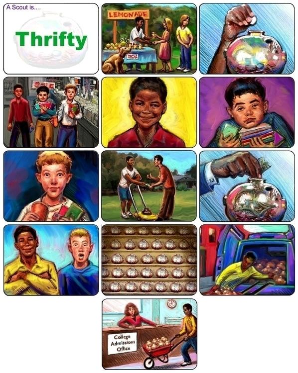 BSA Thrifty Board - storyboard, illustration - doritart | ello