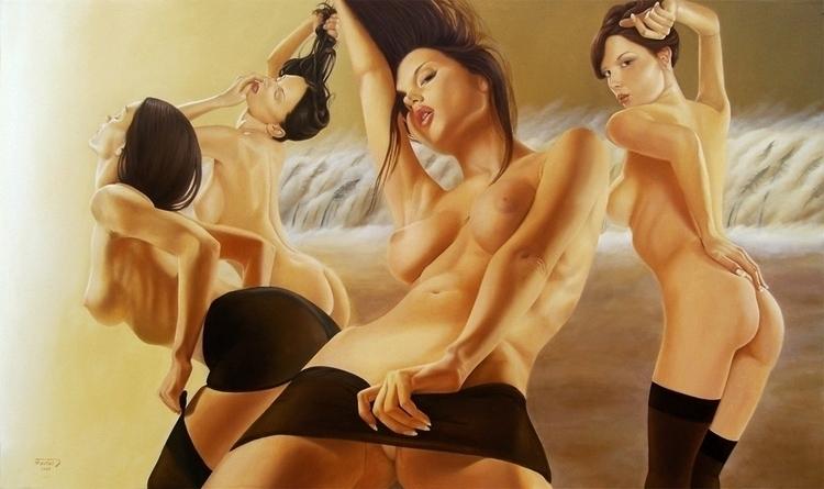 orgy apocalypse, oil / canvas,  - jozz-1181 | ello