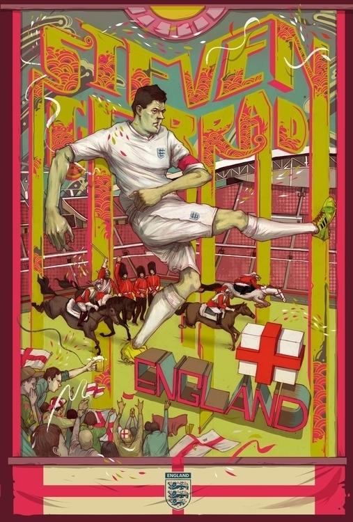 reeo, illustration, poster, england - reeozerkos | ello