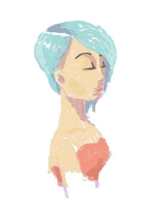 Aloof - illustration, brush, stroke - bhahghyhah   ello