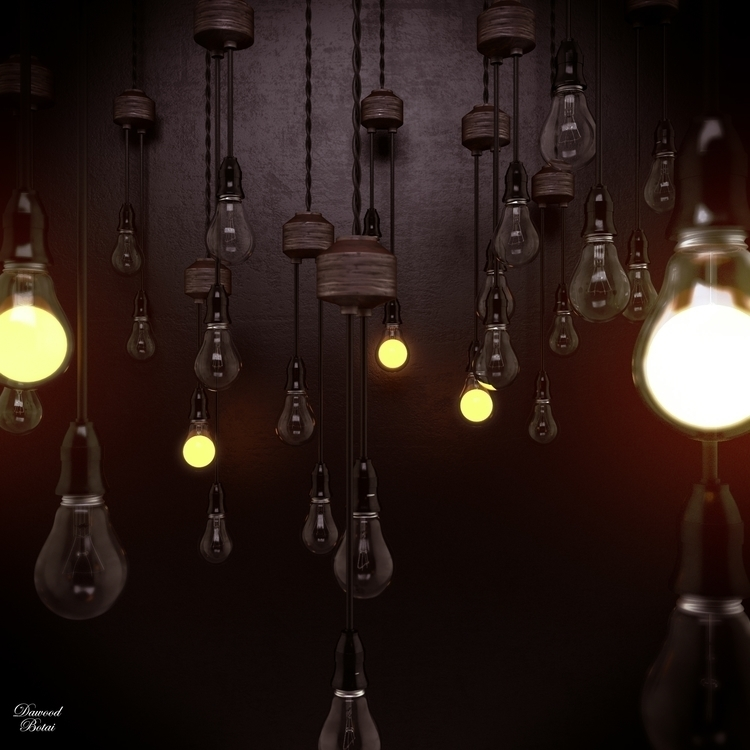 3d light bulbs ! 3dmax vray, mo - dawood-3963 | ello