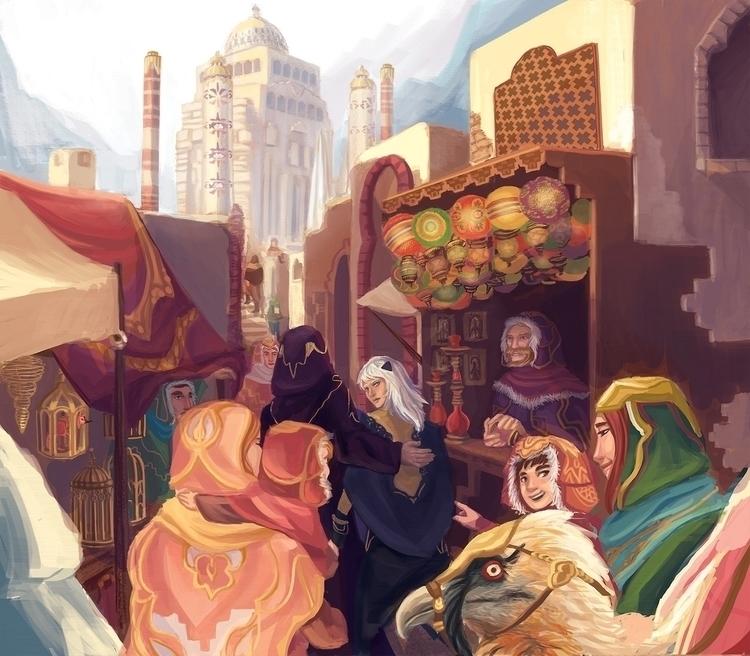 Bazaar - bazaar, terrasolis, environment - anndorphin | ello