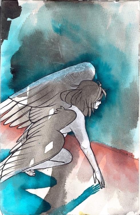 anOldStory, doodles, watercolor - scookart   ello