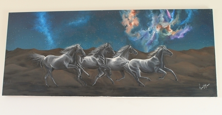 light stars ''- Oil Canvas - 20 - vanniegama | ello