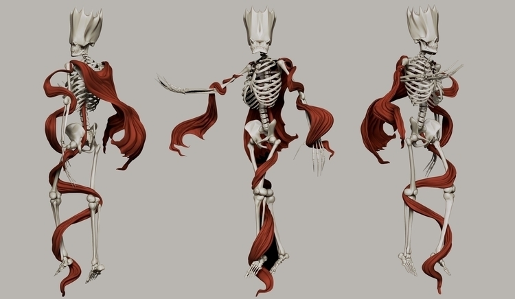 Skeleton King - gameart, skeleton - ruanels | ello