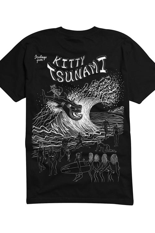 Kitty Tsunami Black White - Shi - alexdull | ello