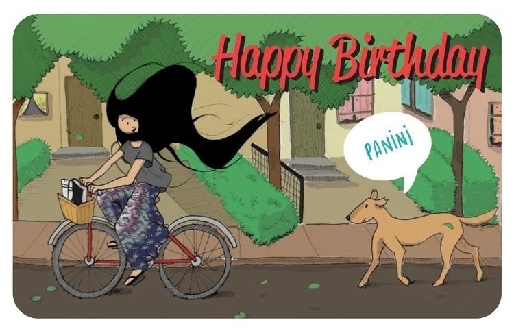 Happy Birthday, Manini - illustration - bhahghyhah | ello