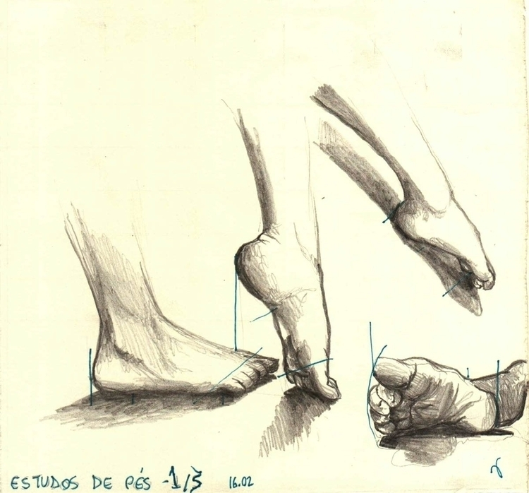 Anatomy Studies - Feet , 4B gra - vanniegama | ello