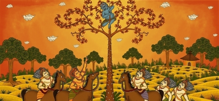 depiction Kerala mural painting - amrita-4734 | ello