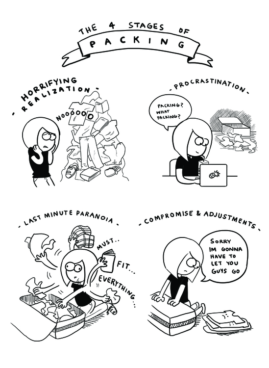 Stages Packing - illustration, comics - bhahghyhah | ello