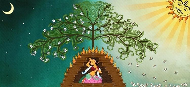 depiction patachitra style Indi - amrita-4734   ello