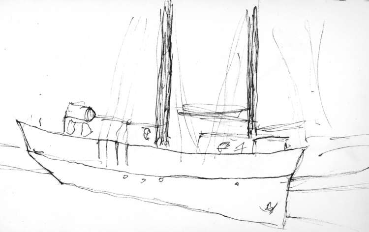 Amsterdam boat - illustration, penink - scottadm | ello