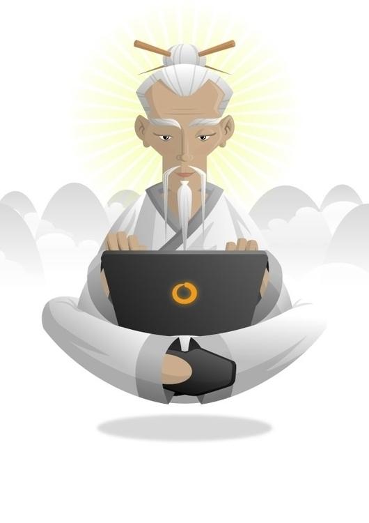 Master Zen character mascot - illustration - scotty-6923 | ello
