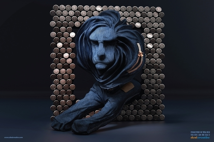 Denim lion - #illustration#Anshul#Dabral#3d#3dsmax#illustration#digitalart#design#characterdesign#photoshop#painting#davisvrworks#drawing#conceptart#liquid#liquid3d#delhi#india#liquidsimulation#advertising#vray - anshuldabral | ello