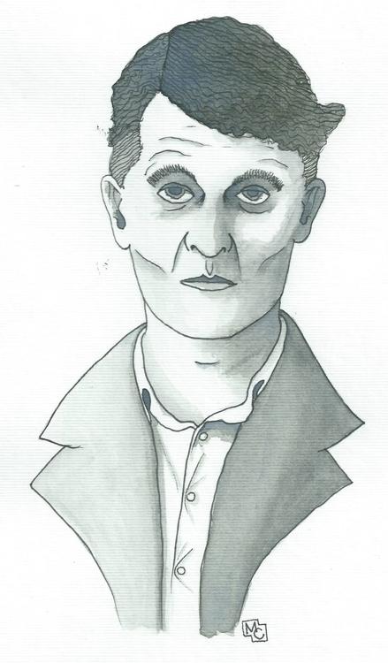 portrait Ludwig Wittgenstein - watercolor - ops17 | ello