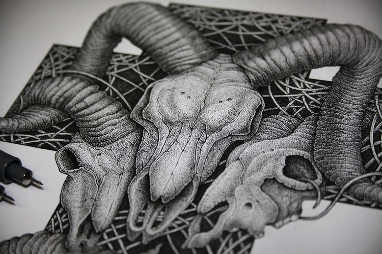 Boneyards - illustration, drawing - artsc0re | ello