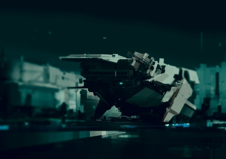 conceptart, spaceship, colony - bogdantufecciu | ello