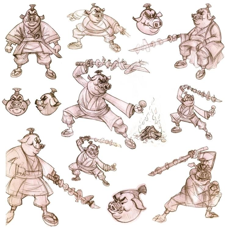 prep sketches/ studies SAMURAI  - baruchinbar | ello