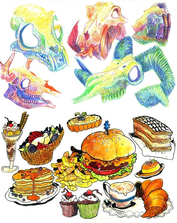 skulls food - tinyghost-1079 | ello
