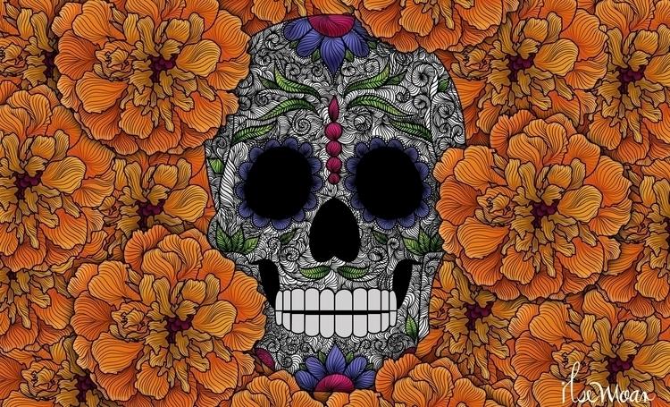 DAY DEAD 2015 - digitalillustration - ilsemoar | ello