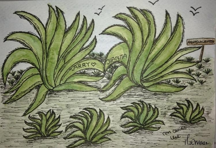 MAGUEYS - illustration, painting - ilsemoar | ello