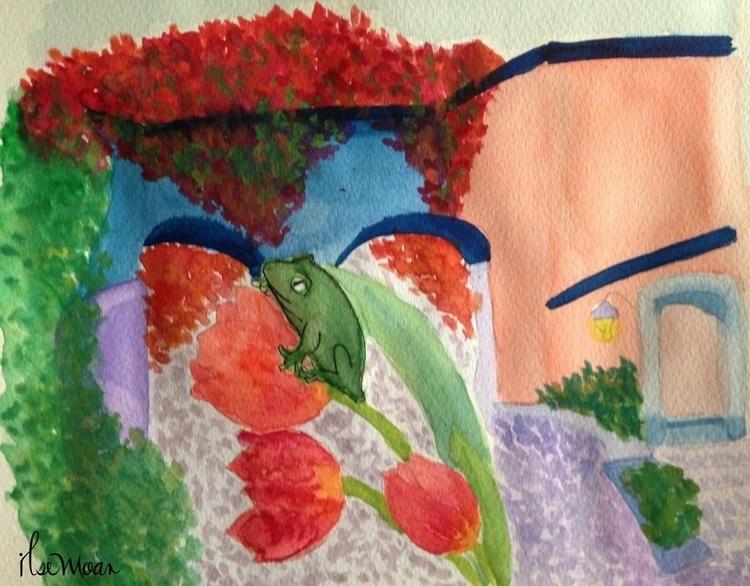 FROG - illustration, painting, drawing - ilsemoar | ello