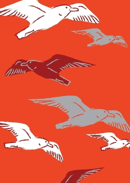 seagull, beatrizalao, illustration - beatrizalao | ello