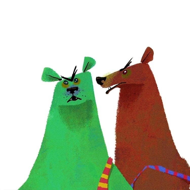 bears - characterdesign, sketch - josecampa | ello