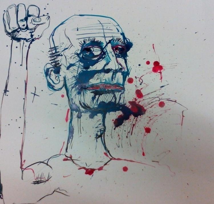 inky Drawing - illustration, drawing - davewhelanart | ello