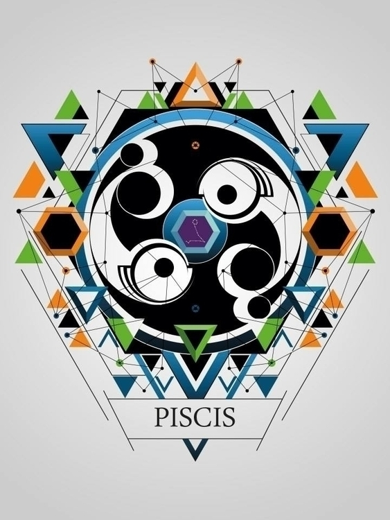 piscis - illustration, digitalart - juanco-1165 | ello