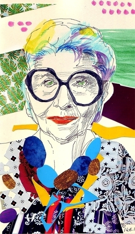 Iris Apfel fanart - illustration - gretaberlin | ello