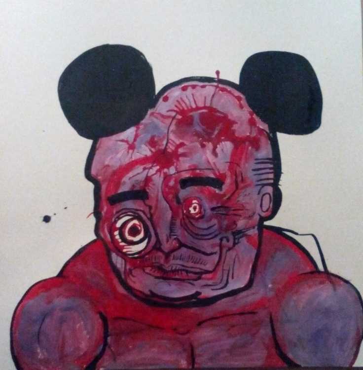 mickey - illustration, painting - davewhelanart | ello