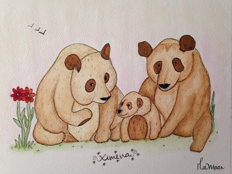 FAMILY BEARS - illustration, painting - ilsemoar | ello