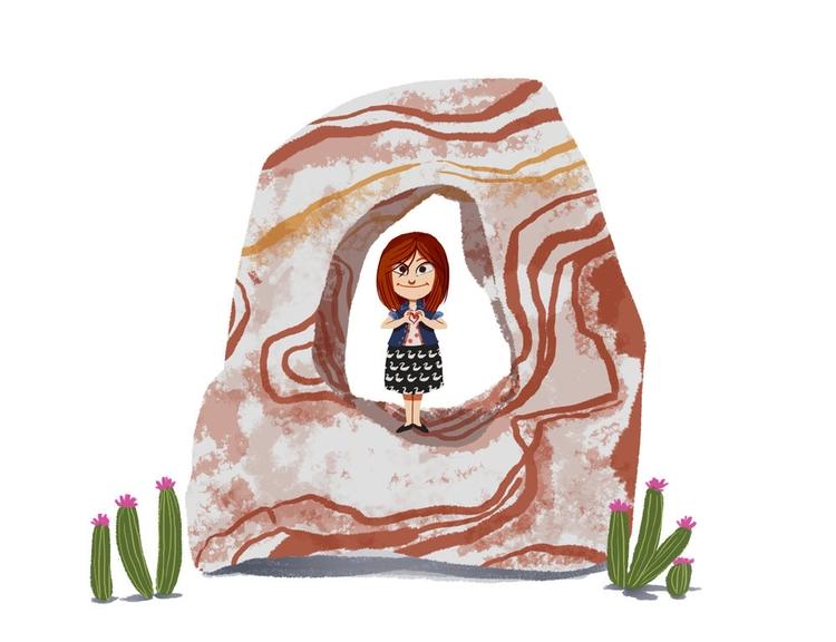 Arizona girl Katie - rock, cactus - josecampa   ello