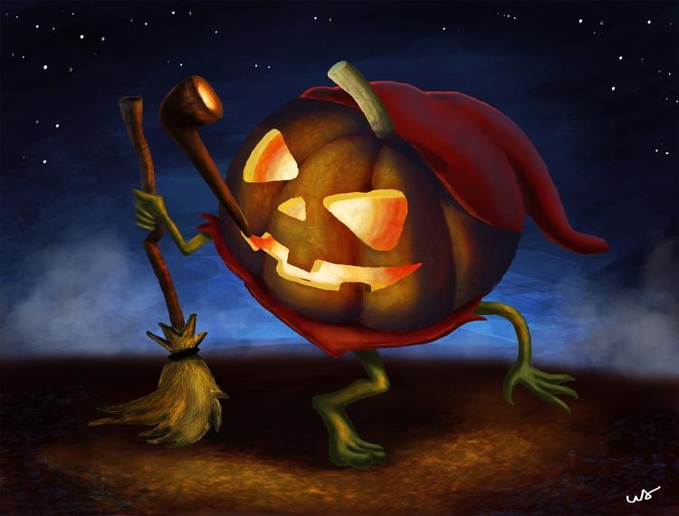 Halloween - illustration, characterdesign - walbersantos | ello