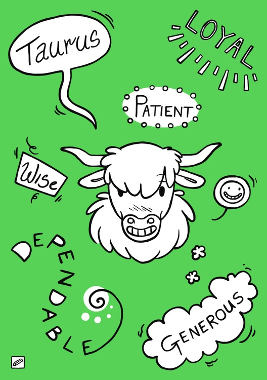 Taurus - illustration, zodiac, series - pencilboxillustration | ello