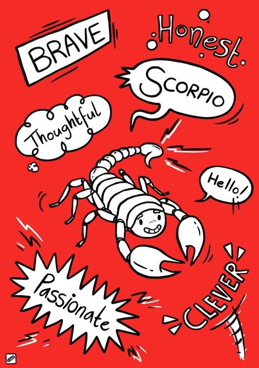 Scorpio - illustration, zodiac, series - pencilboxillustration   ello