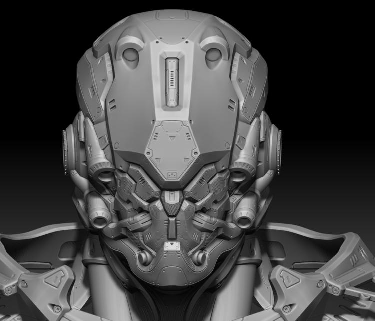 Alpha Robot_01 - illustration, characterdesign - namju | ello