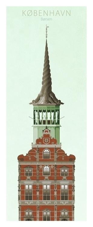 Børsen - illustration, posterdesign - do-6747 | ello