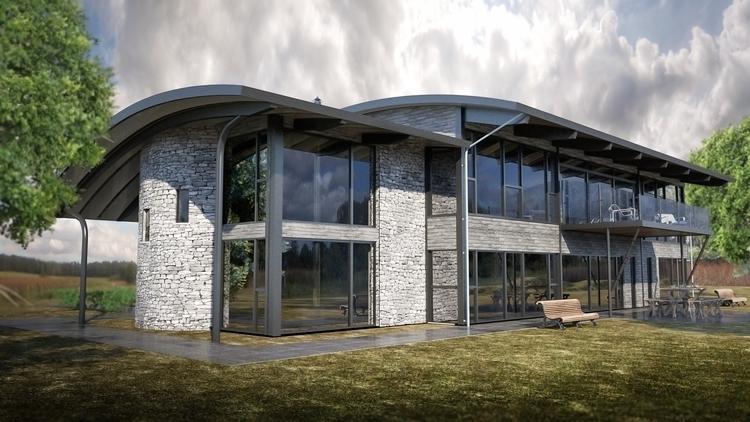 House render - house, 3dart, maya - malcolmcross | ello